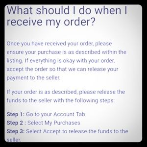 Other - What Should I Do When I Receive My Order??